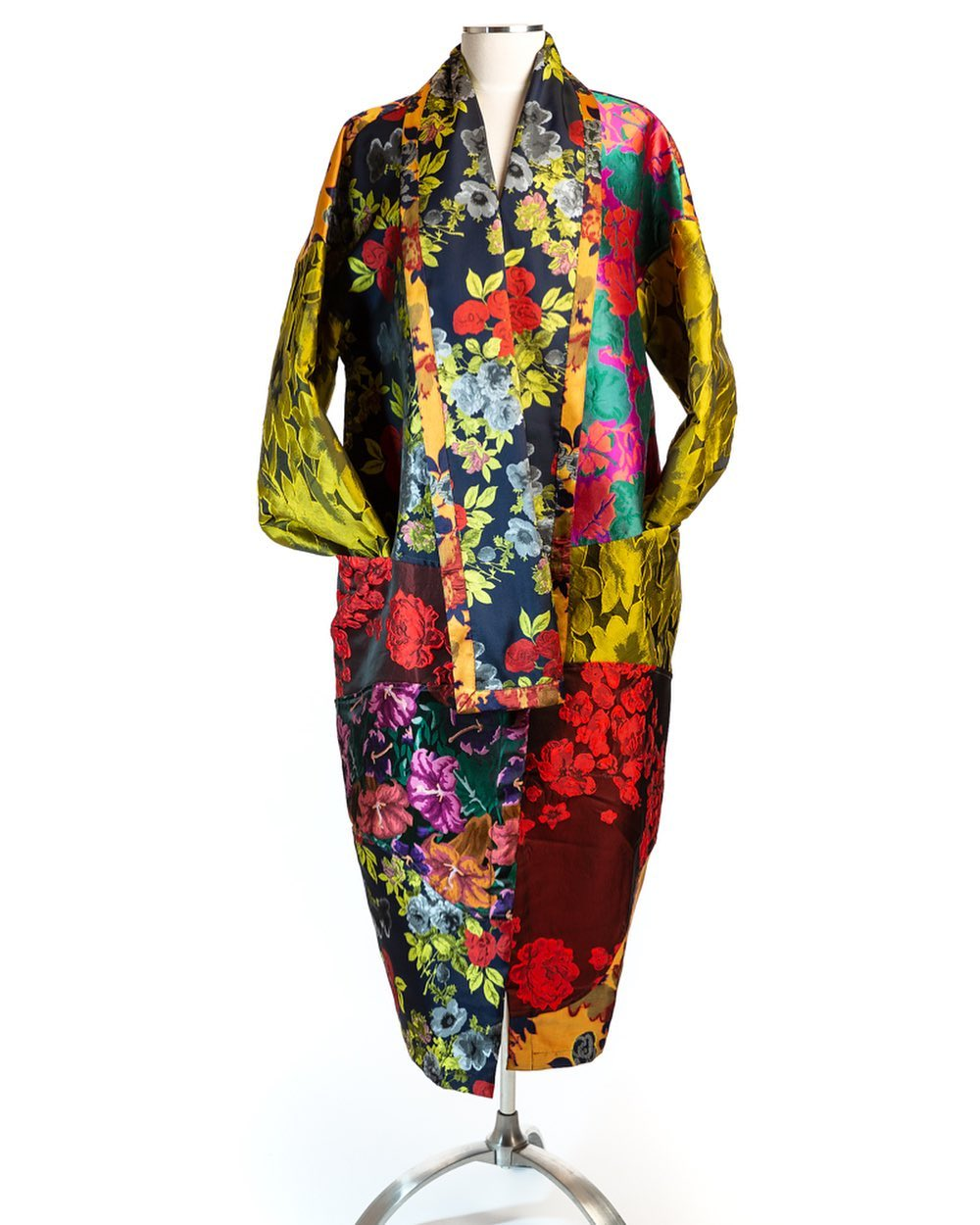 The coat of many colors! This will brighten up your wardrobe! We're open from 12-5 today! Happy Sunday @grovearcade @caravans_asheville @alembika